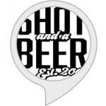 shot and a beer dot com skill logo